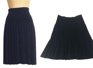 Saks Fifth Avenue Pleated Knit Skirt BLACK