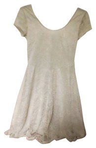 Divided by H&M short dress Cream Mini Lace on Tradesy