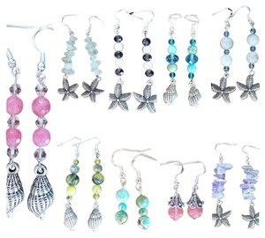 Other Handmade Sterling Silver Genuine Gemstone and Swarovski Crystal Earrings