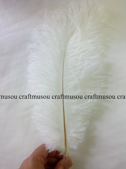 White Ostrich Feather 20-22 Inches 20 Pieces Centerpieces