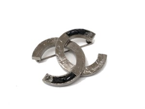 Chanel Auth CHANEL COCO Broach Metal Metallic Black (BF078024)