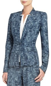 BCBGMAXAZRIA Blue and white Blazer
