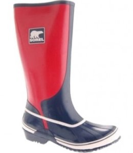 Sorel Navy and Sail Red Boots