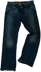 AG Adriano Goldschmied Distressed Rider Boot Cut Jeans-Distressed