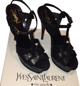 Saint Laurent Black Platforms