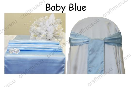 Multi-color 20 To Choose From Satin Table Chair Sash Set Aisle Runner