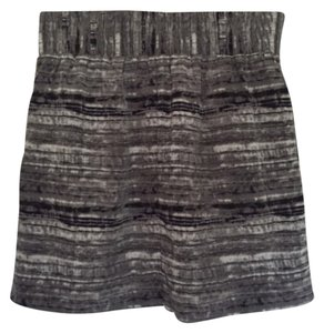 Gap Mini Skirt Grey/dark purple/white