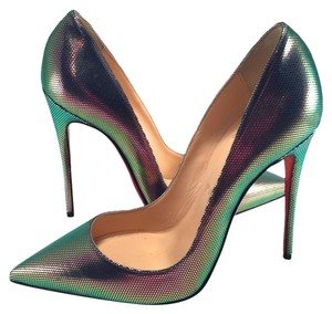 Christian Louboutin So Kate Glitter Scarabe 120mm Digitale multi Pumps