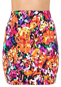 Nasty Gal Mini Orange Mini Skirt MultiColor