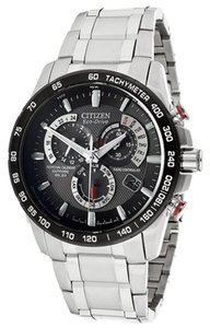 Citizen Citizen AT4008-51E Stainless Steel Black Dial Eco-Drive Chronograph Perpetual Calendar Sapphire