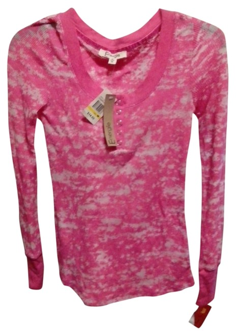 Item - Wi/ Tags-pink Long Sleeve Shirt-size Med Blouse Size 8 (M)