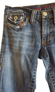 Plastic by Gly Distressed Boot Cut Jeans-Distressed