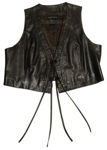 Moda International Embossed Leather Vest