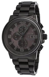 Citizen Citizen Men's Eco-drive 'Nighthawk' Blacked-out Dial Chronograph Watch