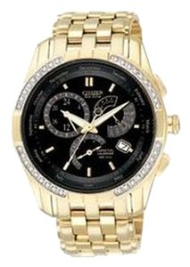 Citizen Citizen Men's Goldtone Diamond Eco-Drive Calibre 8700 Watch