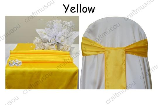 Multi-color 20 To Choose From 10 Satin Table 50 Chair Sash Set Aisle Runner