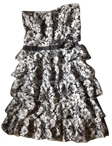 American Rag Lace Ruffle Sweetheart Strapless Mini Floral Dress