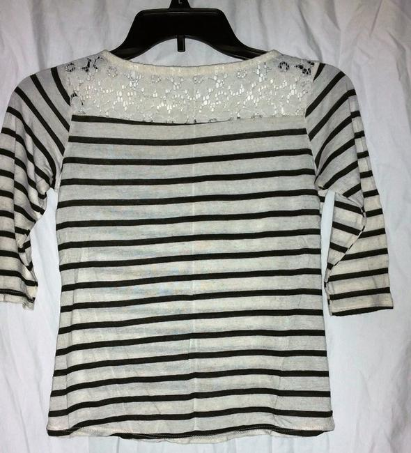 Other Top Navy Blue & White Striped