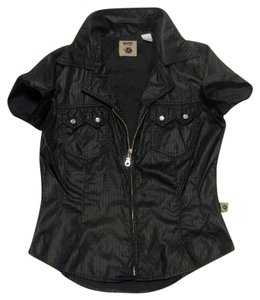MGR It's Our Universe Rockabilly Parachute Zippered Top Black