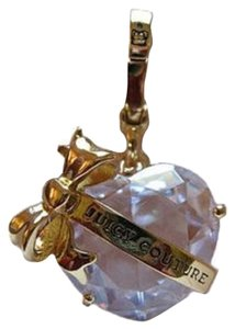 Juicy Couture Juicy Couture CZ Facet Crystal Heart Banner Charm Gold YJRUOC09
