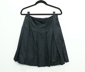 Prada Nylon Taffeta Pleated Or Skirt Black