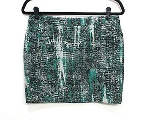 Stella McCartney Print Mini Skirt Green