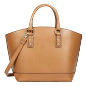 Tote in Cognac w Gold