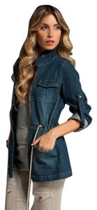 Charley 5.0 Spring Leather Coat Safari Fit And Flare Denim Womens Jean Jacket