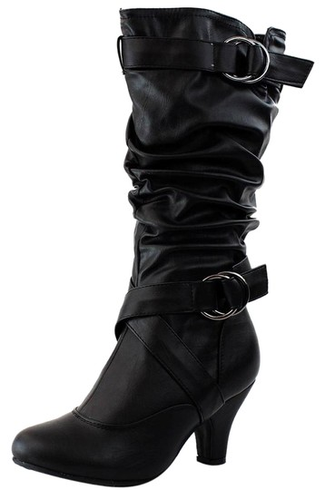 Preload https://img-static.tradesy.com/item/11166622/black-new-sexy-womens-mid-calf-faux-leather-high-bootsbooties-size-us-8-regular-m-b-0-1-540-540.jpg