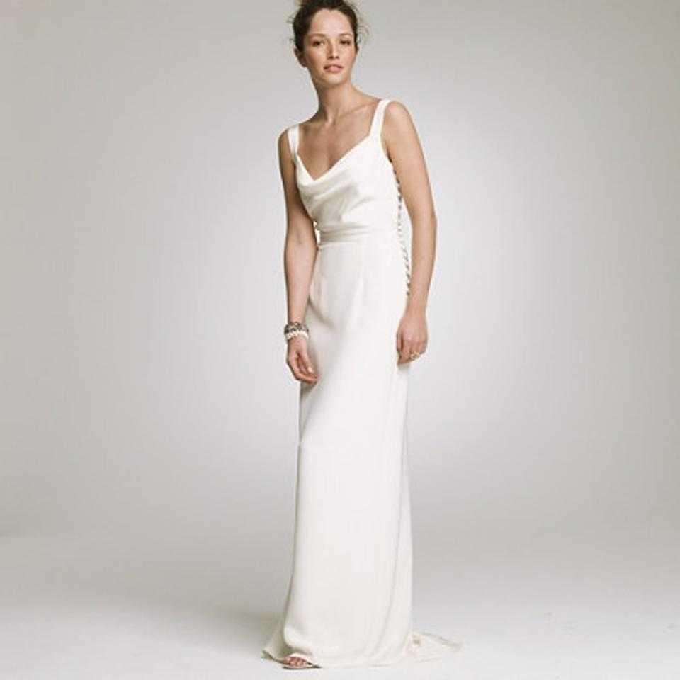Cowl Neck Satin Wedding Dresses: J.Crew Ivory Silk Tricotine Tatiana Cowl Neck Shift Formal