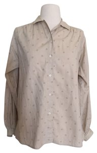 Givenchy Chesa Pirate Poet Sleeves Button Down Shirt Beige
