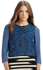 Gryphon Zebra Print Animal Print Blue Jacket