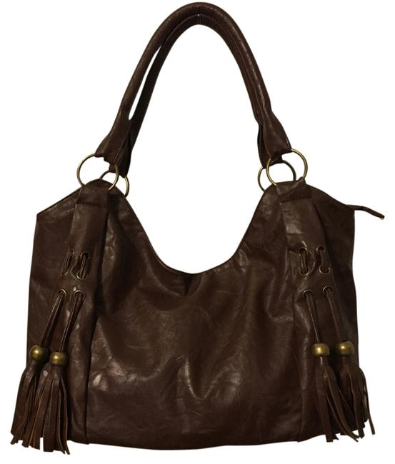 Item - Brown Pvc Satchel