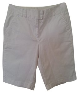 Chico's Casual Comfortable Beach Pool Bermuda Shorts White