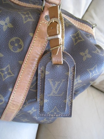 Louis Vuitton RARE Excellent Collectible Vintage Luggage Tag for Speedy Alma Keepall Travel Shoulder Handbag