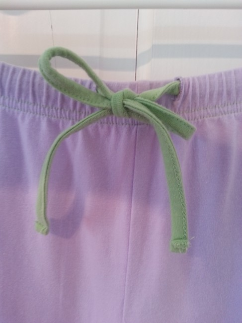 Xhilaration Loungewear Sweats Elastic Comfortable Flare Pants Violet with green drawstring