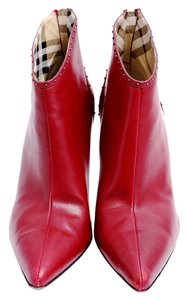 Burberry Maroon Pointed Toe Ankle Red Boots