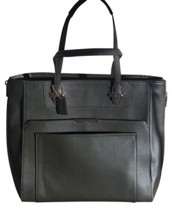 Coach Leather Leather Tote in Dark Green