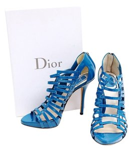 Dior Patent Leather Blue Boots