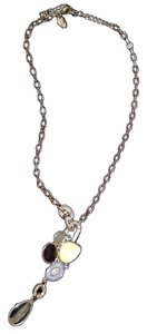 Lia Sophia Silver Necklace with Blue Stones
