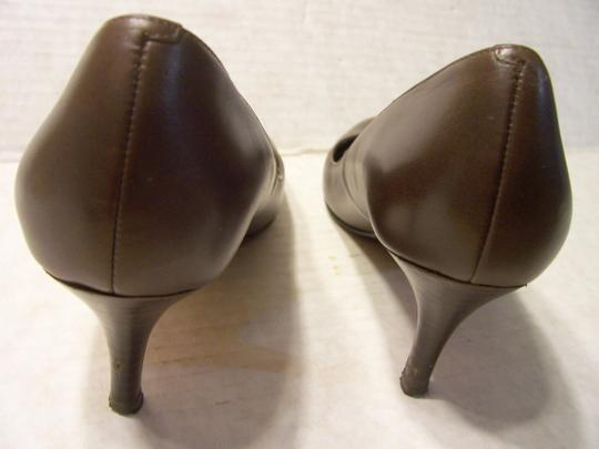 Cole Haan Nike Air Technology High Heels Leather Brown Pumps