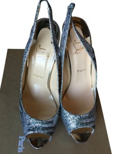 Christian Louboutin Silver / Light Gold Sandals