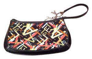 AK Anne Klein Black Multi-Color Wristlet