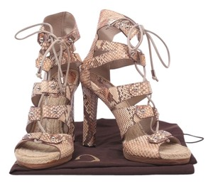 Gucci Snakeskin Shoe beige and multicolor Sandals