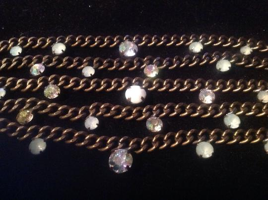 Chico's Beautiful Link Bracelets with Mint Green Stones
