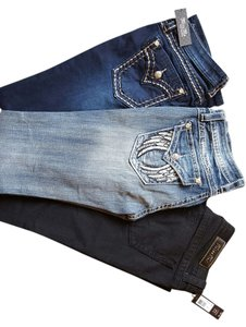 Miss Me I Pm 99.00 For Each Boot Cut Jeans-Medium Wash