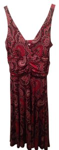 R&K Originals short dress Red Multi-Color on Tradesy
