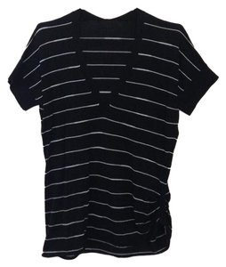 Other T Shirt Black & White Striped