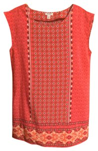 Old Navy short dress Red/Paisley Floral on Tradesy