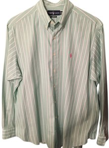Ralph Lauren Polo Striped Mens Mens Mens Polo Button Down Shirt